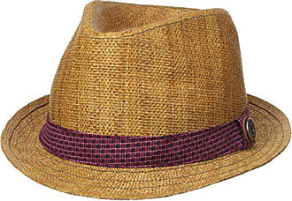 4a7a2553be129 Ben Sherman Mens Straw Trilby with Pattern Band