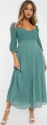 Little Mistress lace dress with sweetheart neckline in nile blue