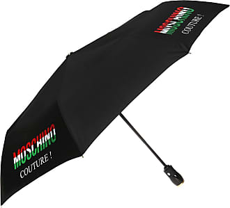 Moschino Folded Umbrella With A Print Unisex Black