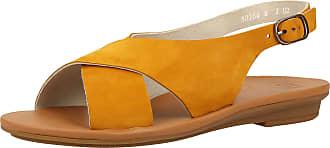 Paul Green 7300 Womens Sandals Yellow Size: 5.5 UK
