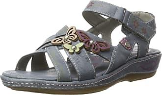 Mustang 1240-801-875, Womens Wedge Heel Ankle Strap Sandals, Blue (875 Sky), 6.5 UK (40 EU)