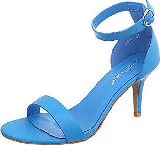 0ca173b16388 Ital-Design High Heel Sandaletten Damen-Schuhe Pfennig- Stilettoabsatz  Heels Schnalle Sandalen
