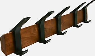 Yamazaki Tableware Rin Wall Coat Rack Dark Brown - dark brown - Brown/Brown