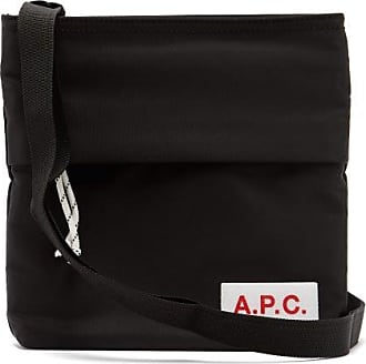 A.P.C. Logo-patch Technical-fabric Cross-body Bag - Mens - Black