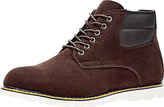 oodji Mens Faux Suede Shoes, Brown, 11 UK