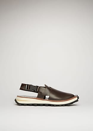 Acne Studios FN-MN-SHOE000090 Brown/black Crossover leather sandals
