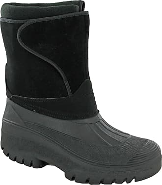 Groundwork Snow Winter Ice Boots Wellingtons Calf 1/2 Mens UK 7-11 (UK 10 / EU 44, Black)