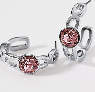 Uta Raasch Stud earrings faceted crystals Uta Raasch pale pink
