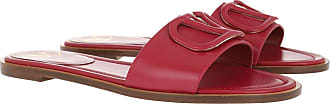 Valentino Loafers & Slippers - Flat Logo Mules Raspberry - magenta - Loafers & Slippers for ladies