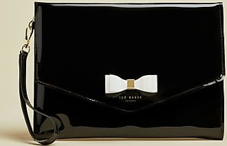 Ted Baker Vinyl Bow Pouch in Black HARLIEE, Womens Accessories