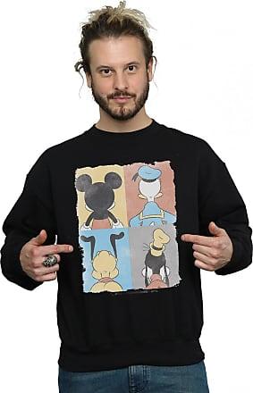 Disney Mens Mickey Mouse Four Backs Sweatshirt X-Large Black