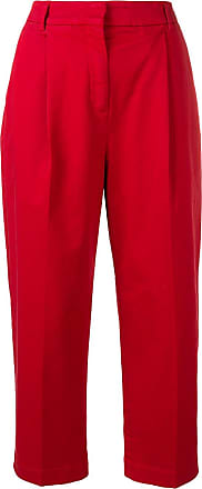 Ymc You Must Create cropped straight-leg trousers - Red