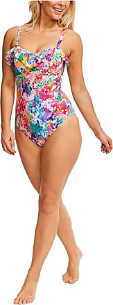 Figleaves Womens Sophia Underwired Swimsuit Size 34FF in Multicoloured