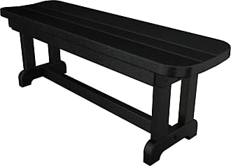 POLYWOOD Outdoor POLYWOOD Park 4 ft. Recycled Plastic Backless Park Bench Slate Gray - PBB48GY
