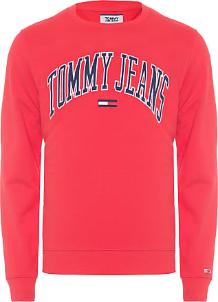 Tommy Jeans BLUSA MASCULINA CLEAN COLLEGIATE CREW - VERMELHO