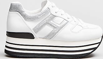 Rabaini Hogan - Sneakers dettagli argento - Bianco