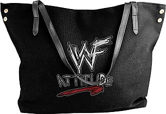 Juju WWF Attitude Era Womens Classic Shoulder Portable Big Tote Handbag Work Canvas Bags