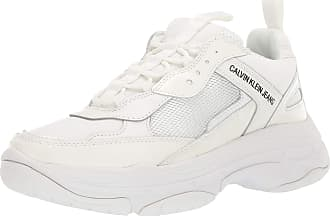 Calvin Klein Jeans Marvin Nylon/Metal Calf/Nappa Trainers White 10 UK