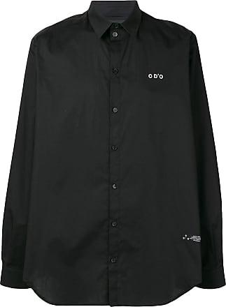 Odeur Camiseta oversized com logo bordado - Preto