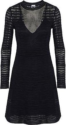 M Missoni M Missoni Woman Metallic Crochet-knit Dress Black Size 44