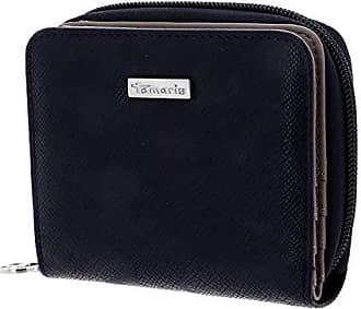 Schwarz Neu Tamaris Khema Small Zip Around Wallet Geldbörse Black Comb