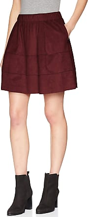 Noisy May Womens Nmlauren Faux Suede Skirt Noos, Red (Port Royale Port Royale), 8 (size: X-Small)