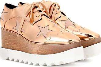 Stella McCartney Elyse metallic platform derby shoes