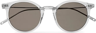 Montblanc Round-frame Acetate And Silver-tone Sunglasses - Gray