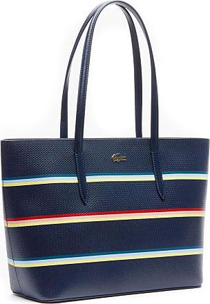 9376ea4844 Lacoste Chantaco Fantasie M Zip Shopping Bag Strip Multico Peacoat