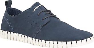 Lotus Logan Blue Suede Lace-Up Casual Shoe 8