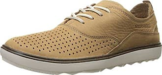 Merrell Womens Around Town LACE AIR Fashion Sneaker, Tan, 8.5 M US