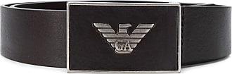 Emporio Armani logo plaque belt - Brown