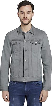 Tom Tailor Mens Trucker Denim Jacket, 10218-Used Light Stone Grey, Xx-Large