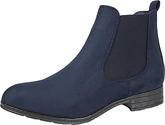 Lora Dora Womens Faux Leather Low Heel Chelsea Boots