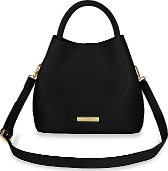 Katie Loxton Sienna Slouch Womens Vegan Leather Convertible Shoulder Cross Body Bag Black Size: 8.5 x 9.5 x 6