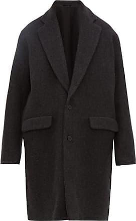 Raey Single-breasted Wool-blend Coat - Mens - Charcoal