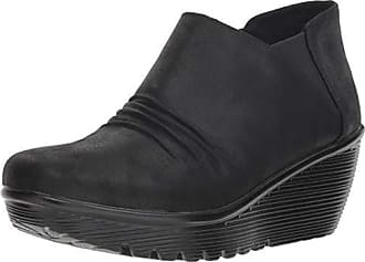 20ebd3e229dc Skechers Womens Parallel-Curtail-Twin Gore Ruched Bootie Ankle Boot
