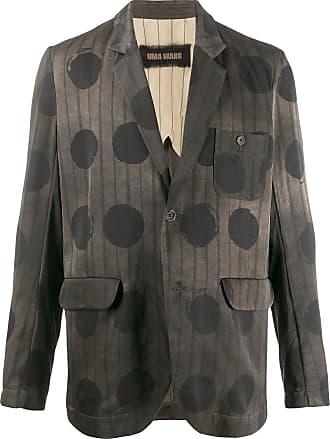 Uma Wang faded print single-breasted blazer - Brown