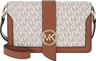 Michael Kors Charm MD Triple Gsst Crossbody Bag Vanilla Acorn
