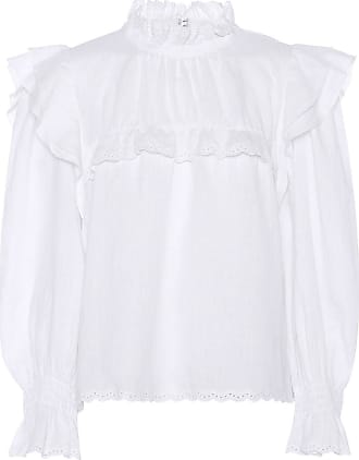 Isabel Marant Ted ruffled linen blouse