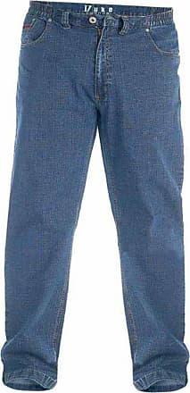 Duke London Mens Duke Kingsize Elasticated Jeans (42-60) Washed Blue (46 30)