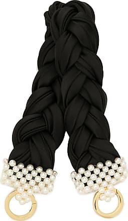 0711 small bead-embellished handle - Black