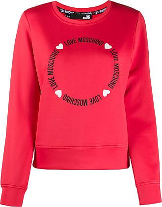 Love Moschino Moletom com logo - Vermelho