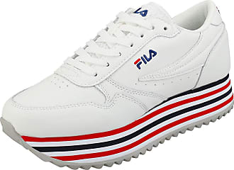 Fila Womens Orbit Zeppa Stripe Wmn Low-Top Sneakers, White (White 1010667-02p), 6.5 UK