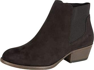 Lora Dora Womens Chunky Block Heel Chelsea Boots Aukland Black UK 4