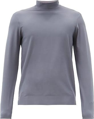 Jacques Performance High-neck Jersey Top - Mens - Grey