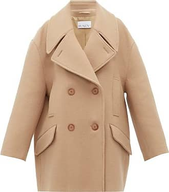 Raey Oversized Wool Pea Coat - Womens - Camel