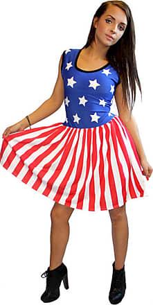 Insanity USA Stars and Stripes Sleeveless Gathering Dress (Medium/Large)