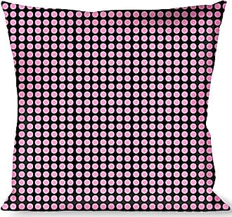 Buckle Down Pillow Decorative Throw Mini Polka Dots Black Pink