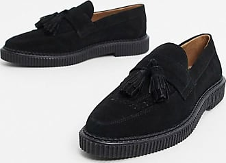 House Of Hounds Mocasines estilo creepers de ante en negro Kain de House of Hounds